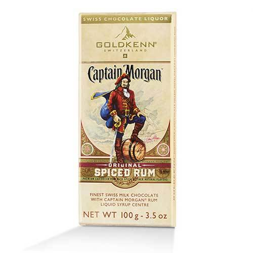 Captain Morgan suklaalevy -Goldkenn 100g